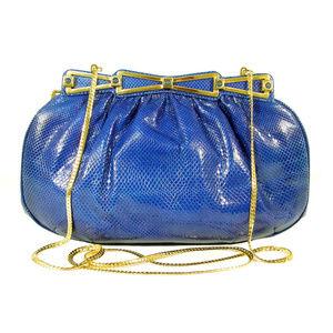 ASHNEIL 70's Mini Vintage Karung Snake Clutch Bag